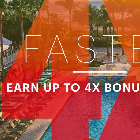 Earn up to 4 x bonus points